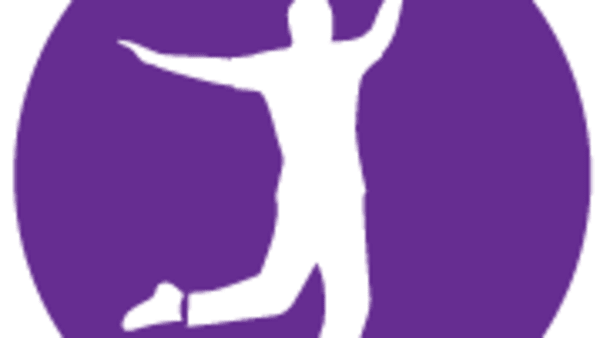 Ballroom Fit Logo of person dancing